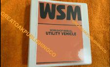 Kubota Rtv 1100 Rtv1100 Utv Vehicle Workshop Service Repair Manual Binder