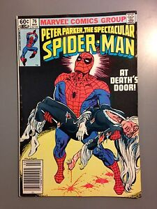 Details About Peter Parker The Spectacular Spider Man 76 Vf Nm 1983 Black Cat Doctor Octopus