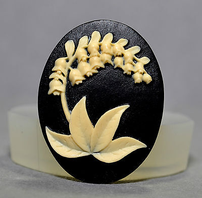 Lily of the valley  CAMEO - silicone mould - cupcake, polymer clay, resin mold