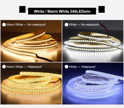 5m LED Streifen 12V RGB 240LED//m SMD 2835 IP65 Stripe Dimmbar Band Leiste weiß
