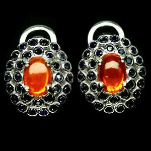 TOP-FIRE-OPAL-EARRINGS-Natuerliche-Feuer-Opal-Ohrringe-Silber-E215