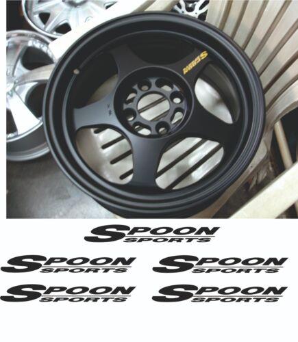 Spoon Sport wheel sticker sticker Prelude Acura NSX S2000 Sticker Honda JDM Hond