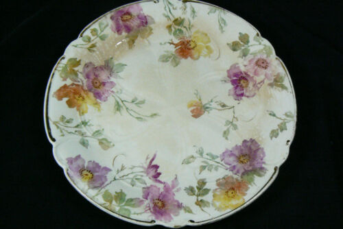 Vintage Decorative porcelain hand painted Pink Floral Plate 9""
