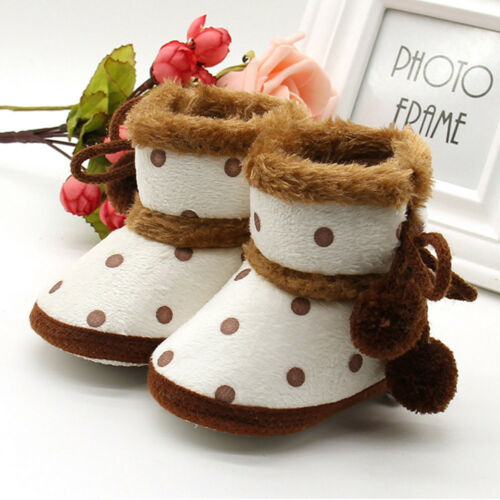 NEW Baby Soft Crib Sole Warm Snow Boots Toddler Newborn Grils Anti-slip Shoes