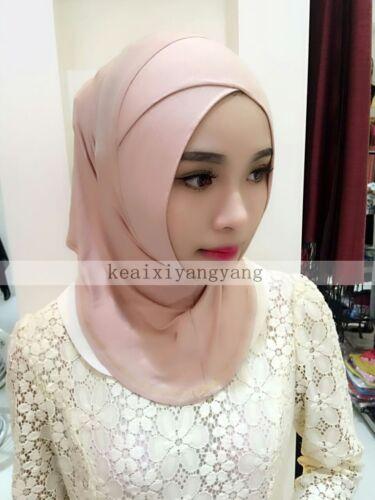 100/% Cotton Muslim Inner Hijab Cross Caps Islamic Underscarf Arab Ninja Headwear