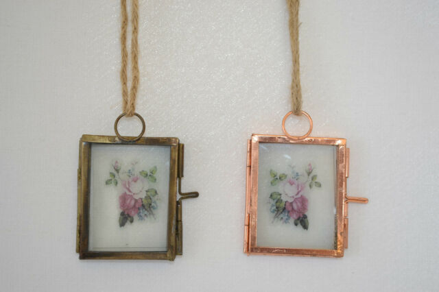 Brass and Copper Finish Mini Hanging Vintage Photo Frames Picture Frames