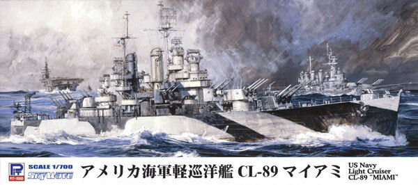 PIT-ROAD US NAVY LIGHT CRUISER CL-89 MIAMI 1 700 PLASTIC MODEL FROM JAPAN