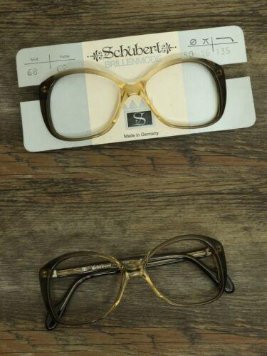 glasses 50 16 135 braun Modell 68 ORIGINAL 70er Vintage Damen Brille NEU