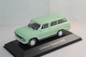 IXO-1-43-Scale-Chevrolet-Veraneio-1965-Light-Green-Diecast-Models-Toys