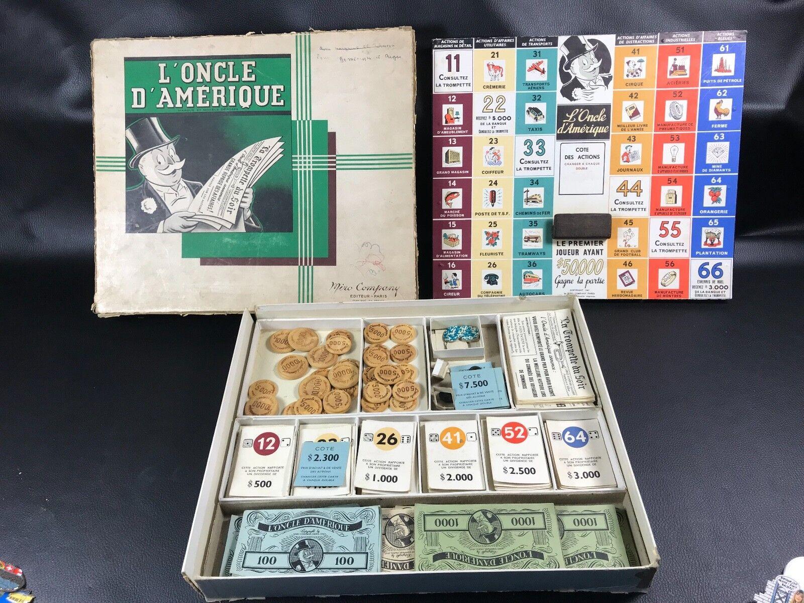 buena calidad VINTAGE ET ET ET RARE L'ONCLE D'AMERIQUE 1947 EN BOITE  la mejor selección de