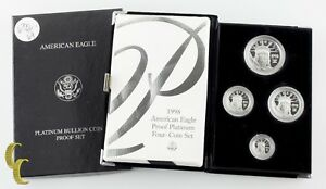 1998-w Platinum American Eagle Beweis Four-coin Set 1.85 Oz. W / Ungebraucht