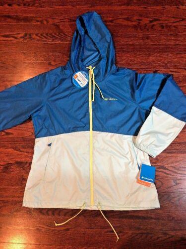 NWT$60 Columbia Women Flash Forward Windbreaker Jacket UPF40 L XL wind//water re