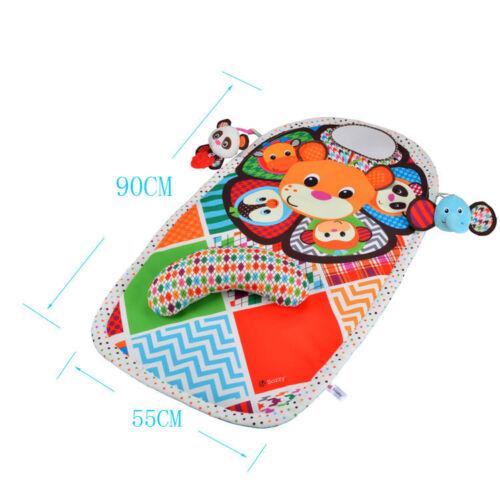 Kids baby Play Tummy Time Activity Mat Infant Fun Floor Gym soft panda toy mat