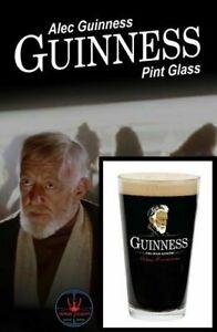 Star Wars Alec Guinness Obi-Wan Kenobi Memorial Pint Glass -new