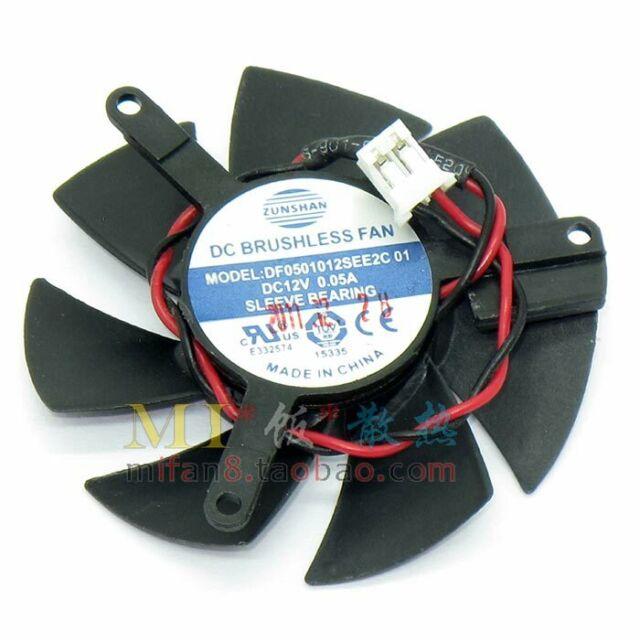 1PCS 45mm Video Card Fan 39mm DF0501012SEE2C #M298 QL