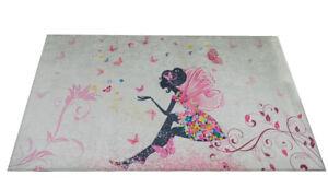 Kinderzimmer teppich waschbar & rutschfest Mädchen Schmetterling ...