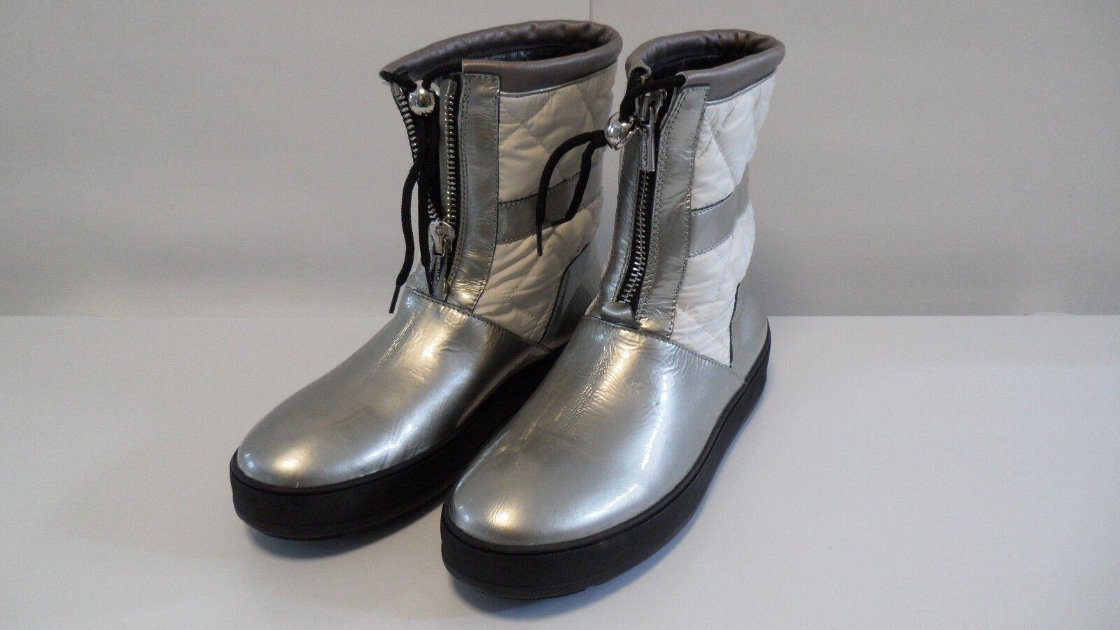 Retail  495 Aquatalia Metallic Patent Leather Short stivali  Sz 9 Made in   fino al 70% di sconto