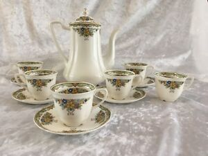 Old-Staffordshire-Johnson-Bros-Coffee-Set-1930s