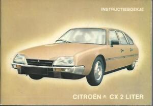 CITROEN-CX-2-Liter-1981-Instructieboekje-Betriebsanleitung-Handbuch-Handboek-BA