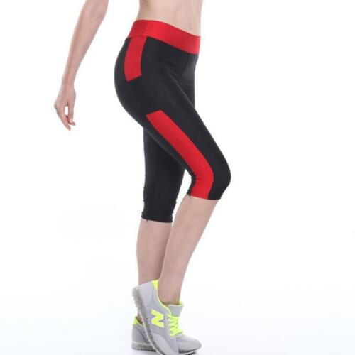 Patchwork Leggings Pour Femmes Fitness Mi-Mollet Taille Haute Élastique capris leggings