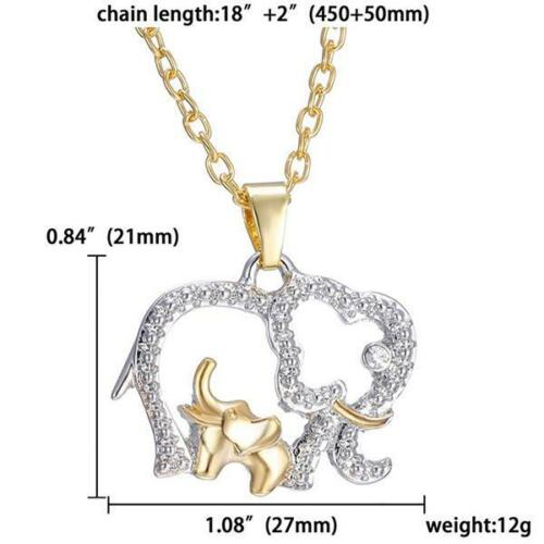 Novelty Double Elephant Necklace For Mother/'s Day Gift Necklace Best Gift LC