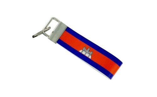 Keychain stripe key lanyard flag keyring ring car jdm band remote cambodia