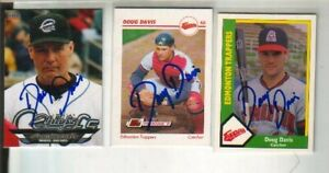 (3) Doug Davis Autographed Baseball Cards ALL DIFFERENT