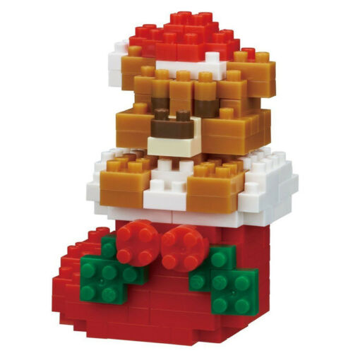 NANOBLOCK Teddy Bear Christmas Nano Block Micro-Sized Building Blocks NBC-235