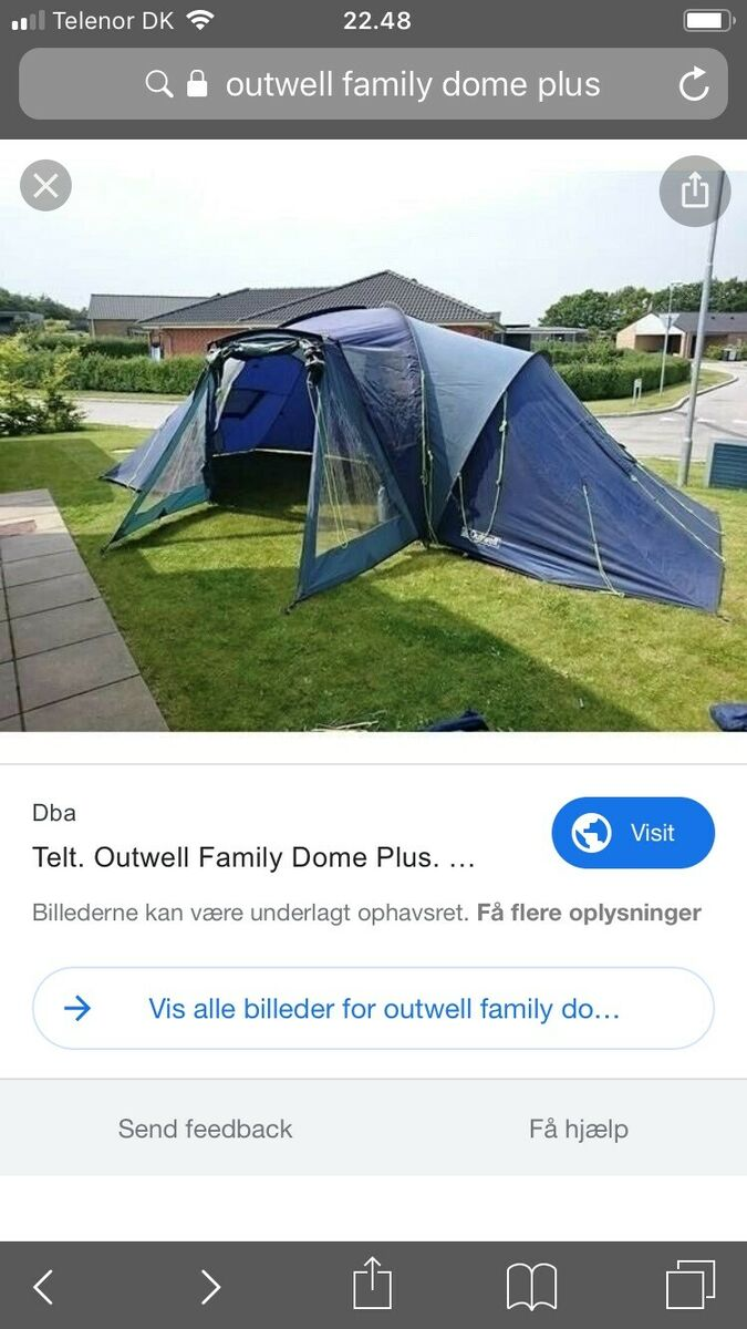 Outwell Telt – dba.dk – Køb og Salg af Nyt og Brugt
