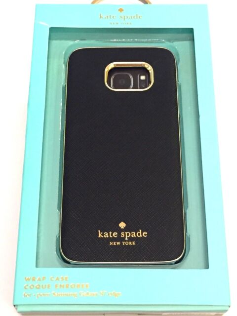 sports shoes 0c71c e5f85 Authentic Kate Spade NY Saffiano Wrap Case Samsung Galaxy S7 Edge Black/gold