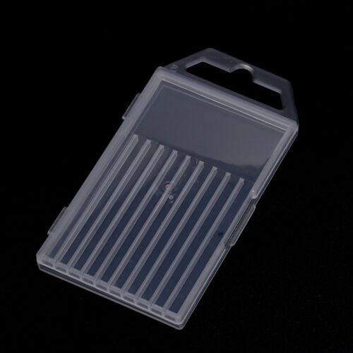1pc plastic transparent drill bit storage box collection container caseSN