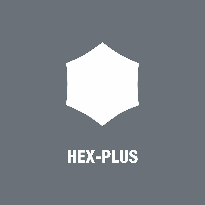 Wera 05027110001 Hexagon 950 PKL BM L-key Ballpoint 7mm x 190mm BlackLaser