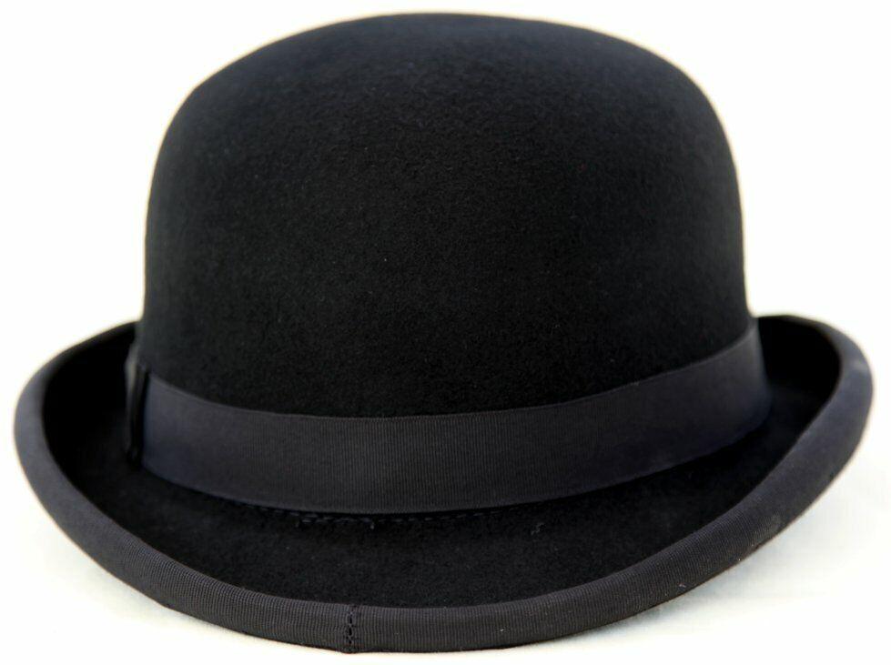 100% Felt Bowler Hat - Dimensione 56cm