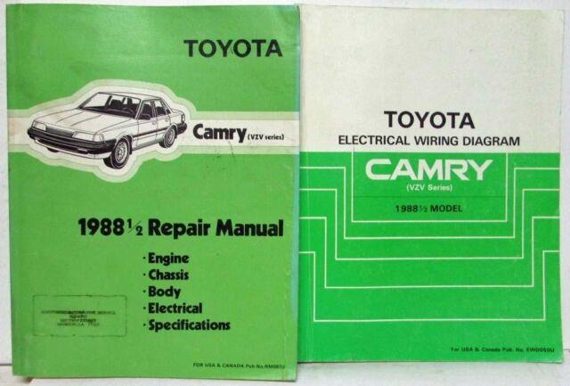 1988 1  2 Toyota Camry Service Shop Repair Manual