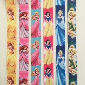 Princess Disney Belle Ariel Cinderella Ribbon 22mm x 1 Metre for Cake Hair Craft
