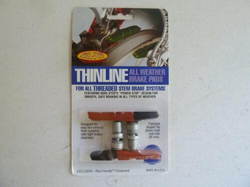 Kool Stop Thinline threaded brake pads V brake dual compound