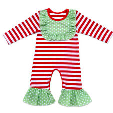 18590c2d92e9 Laura Dare Baby Girls Red Green Magical Dots Candy Cane Pajama ...