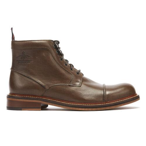 Mens invernali Up Thomas Boots Scarpe Leather Henlow Khaki Lace Partridge qq0zZE