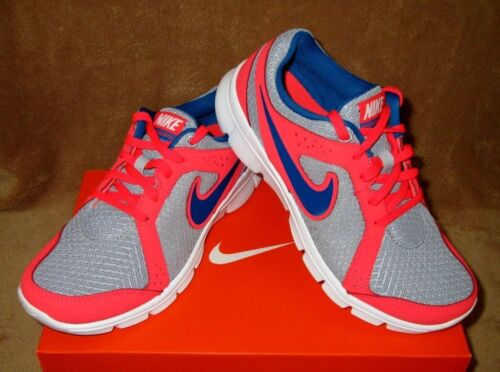 6 5 4 NEW NIKE FLEX EXPERIENCE SHOE WOLF GREY//RED//WHT//BLUE YOUTH  3.5