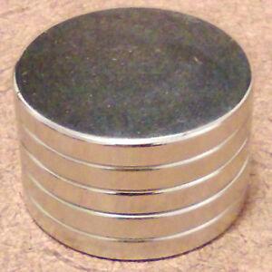 N52 Neodymium Cylindrical 1 x 1//16 inch Cylinder//Disc Magnets.