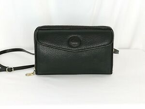 Near-MINT-Vintage-Dooney-amp-Bourke-Zip-Along-Black-AWL-Convertible-Wallet