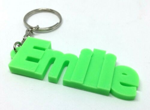 Emilie Chunky Name Keyring DesignPersonalised other colours available