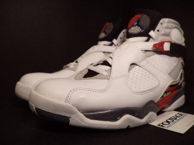 2008 Nike Air Jordan Retro VIII 8 Retro Jordan CDP COUNTDOWN WHITE BLACK FLINT GREY Sz 11 75eef9
