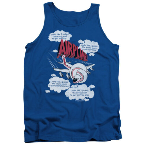 Airplane Movie Quotes I PICKED THE WRONG WEEK Licensed Adult Tank Top All Sizes