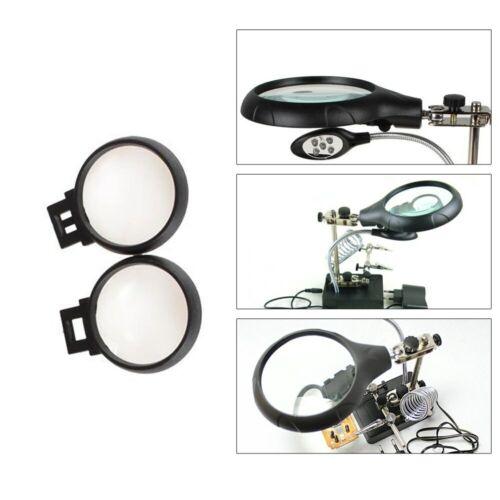 Lupa de luz LED 2.5X 7.5X 10X y lámpara de escritorio que ayuda a reparar la