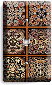 Image Is Loading Tuscan Kitchen Tile Pattern Print Phone Jack Telephone