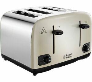 RUSSELL HOBBS Cavendish 24091 4-Slice Toaster - Cream - Currys