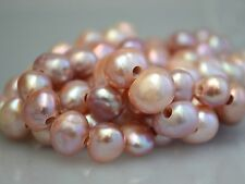 9-10 x 11-12 mm Natural Pink Large Hole Freshwater Pearls 2.1 mm Hole (#48)