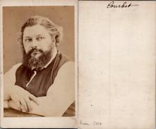 Gustave Courbet, peintre Vintage albumen print. CDV.Gustave Courbet, né le 10
