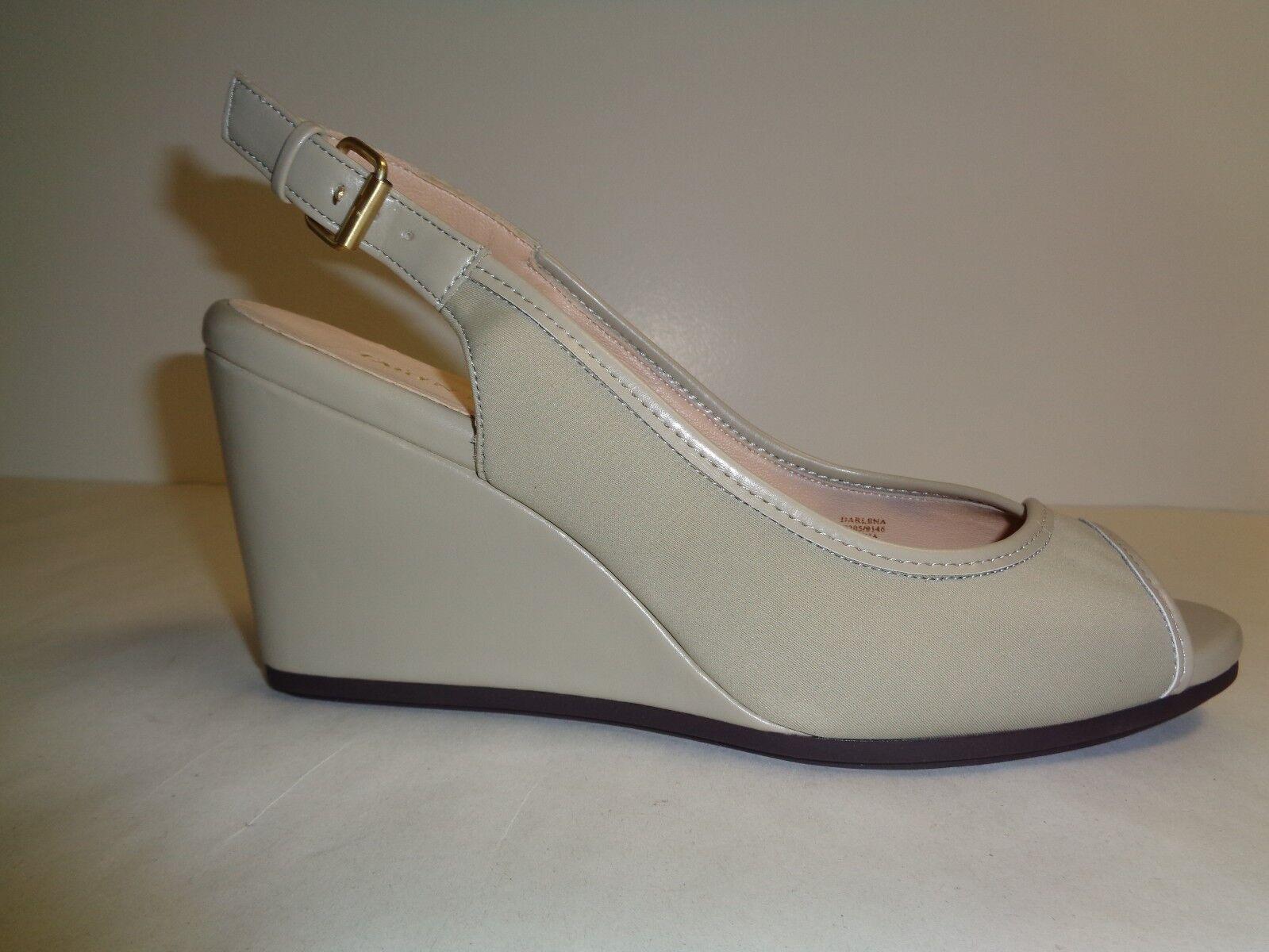 Taryn Rose Größe 11 M DARLENA Beige Leder Wedge Sandales NEU Damenschuhe Schuhes